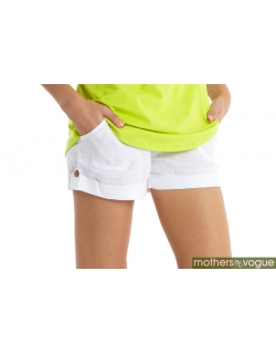 Шорты для беременных и родивших Mothers en Vogue Boardwalk короткие, белый