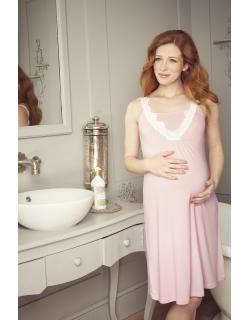 Ночная рубашка для беременных и кормящих Amoralia Lace Trim, розовый
