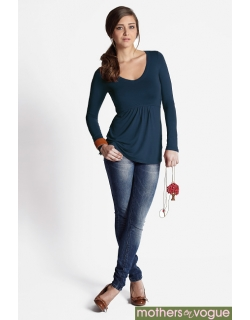 Топ для кормления Mothers en Vogue Must Have V-Neck, синий (Night Shadow Blue)
