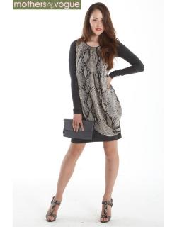 Платье для кормящих Mothers en Vogue Goddess Drape, змеиный принт