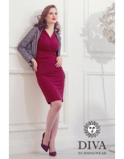 Платье для кормящих и беременных Diva Nursingwear Lucia, цвет Berry