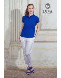 Топ для кормления Diva Nursingwear Polo, цвет Azzurro