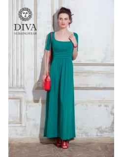 Платье для кормящих и беременных Diva Nursingwear Stella Maxi, Smeraldo