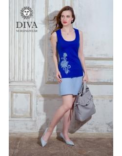 Топ для кормления Diva Nursingwear Eva Print, цвет Azzurro