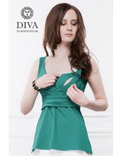 Топ для кормящих и беременных Diva Nursingwear Alba, цвет Smeraldo