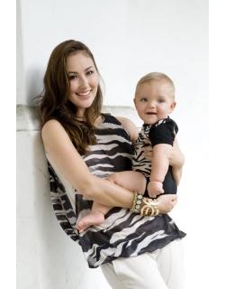 """Топ для кормления Mothers en Vogue """"Bubble Hem Atelier Tank"""", принт Zebra"""