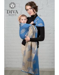 Слинг с кольцами Diva Basico, Azzurro