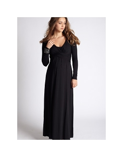 Платье Mothers en Vogue Wrap Dress Maxi, черный