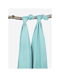 Комплект бамбуковых пеленок для новорожденных 2 шт. Jollein, mint