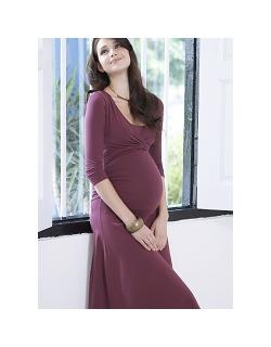 """Платье для кормящих Mothers en Vogue """"Dana"""", рукав 3/4, цвет винный"""
