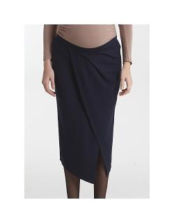 Юбка для беременных и родивших Mothers en Vogue Midi Draped, синий (Navy)