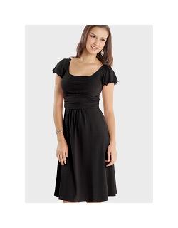 """Платье Mothers en Vogue """"Juliet"""" короткий рукав, черный"""