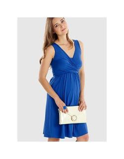 """Платье для кормящих и беременных """"Wrap Dress"""" без рукава, Cobalt"""