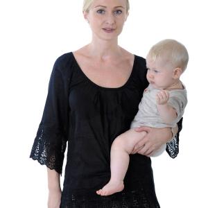 Положение ребенка в слинге повторяет положение на руках