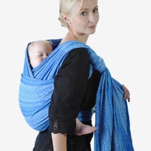 """Инструкция к слингу-шарфу за спиной: намотка """"Джордан с узлом на плече"""""""