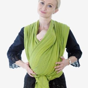 Слинг-шарф: Крест над карманом для новорожденного