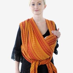 Слинг-шарф: Колыбель из простого креста для новорожденных