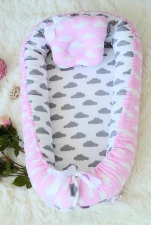 Гнездышко-кокон для новорожденных Babynest Rose Ashes