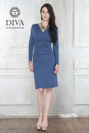 Платье для кормящих и беременных Diva Nursingwear Lucia, цвет Notte