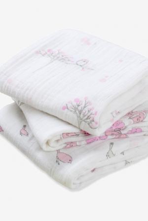Пеленки для новорожденных Aden&Anais средние, набор 3, For the Birds