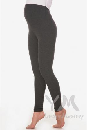 Лосины для беременных утепленные с начесом темно-серый меланж