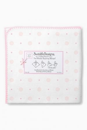 Фланелевая пеленка для новорожденного SwaddleDesigns Ultimate Pink Big Dot Lt Dot
