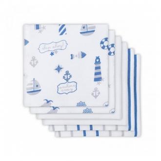Муслиновые пеленки для новорожденных Jollein средние, Boys at sea (Мальчики на море)