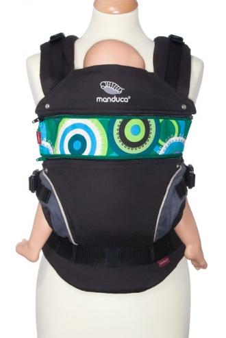 Вставка в удлинение спинки эрго-рюкзака Manduca, CircadelicGrass