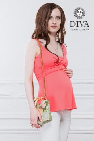 Топ для кормящих и беременных Diva Nursingwear Alba, цвет Corallo