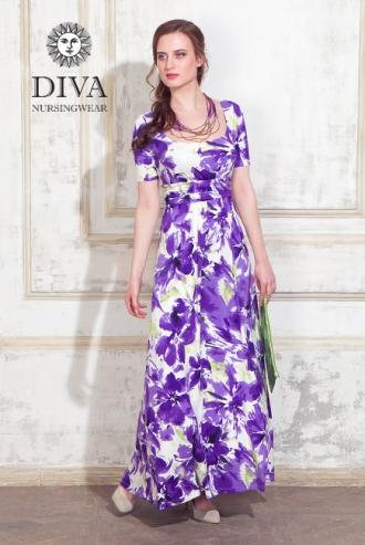 Платье для кормящих и беременных Diva Nursingwear Stella Maxi, Iris