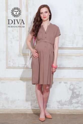 Платье для кормящих и беременных Diva Nursingwear Gemma, цвет Мока