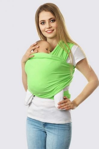 Слинг-шарф трикотажный, салатовый