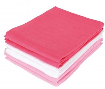 Комплект муслиновых пеленок для новорожденных Jollein, fuchsia/pink/white