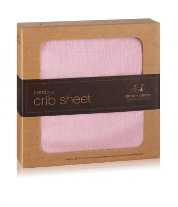 Aden&Anais простынка на матрас бамбуковая Tranquility Solid Rose (розовый)