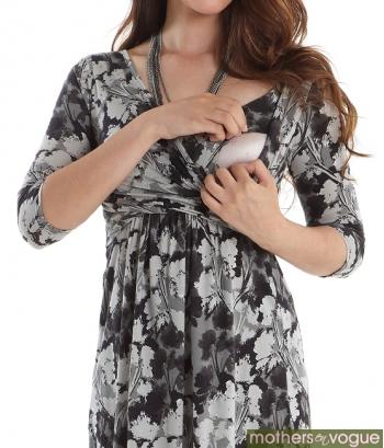 Платье Mothers en Vogue Wrap Dress, рукав 3/4 принт Floral