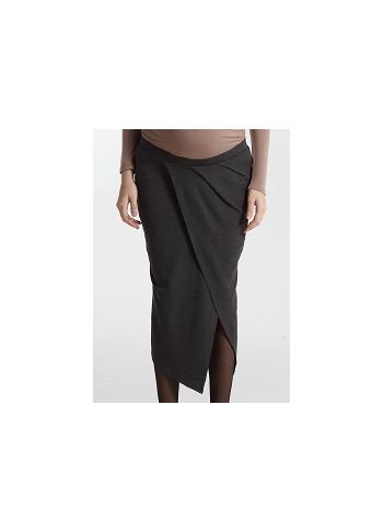 Юбка для беременных и родивших Mothers en Vogue Midi Draped, серый (Heather Charcoal)