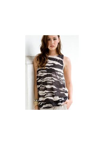 "Топ для кормления Mothers en Vogue ""Bubble Hem Atelier Tank"", принт Zebra"