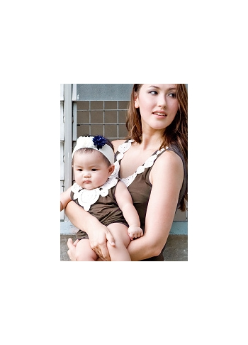 Боди Zahra Applique для малыша, коричневый