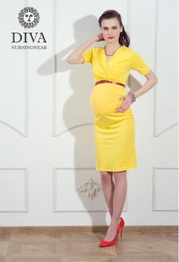 Платье для кормящих и беременных Diva Nursingwear Lucia кор.рукав, Limone