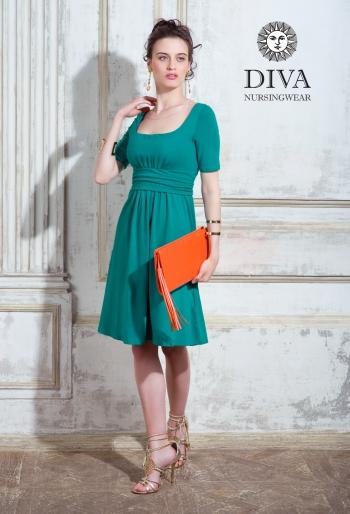 Платье для кормящих и беременных Diva Nursingwear Stella, Smeraldo