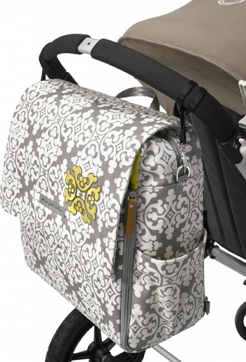Сумка для коляски Petunia Boxy Backpack: Licorice Blossom
