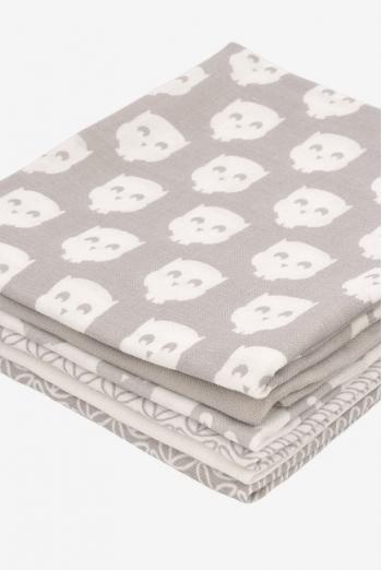 Муслиновые пеленки для новорожденных Jollein средние, Owl grey