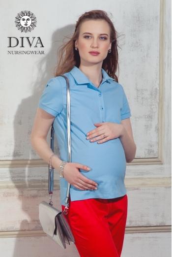 Топ для кормления Diva Nursingwear Polo, цвет Celeste