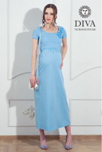 Платье для кормящих и беременных Diva Nursingwear Dalia, цвет Celeste
