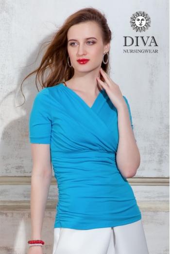 Топ для кормящих и беременных Diva Nursingwear Lucia, цвет Celeste