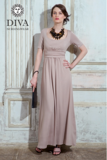 Платье для кормящих и беременных Diva Nursingwear Stella Maxi, Grano