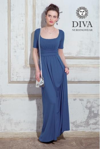 Платье для кормящих и беременных Diva Nursingwear Stella Maxi, Notte