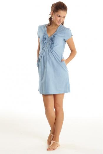 Платье для кормящих Ruffle, голубой (Chambray)
