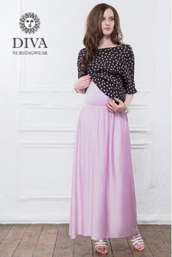 Юбка с шелком для беременных и родивших Diva Nursingwear Ines, Lavanda