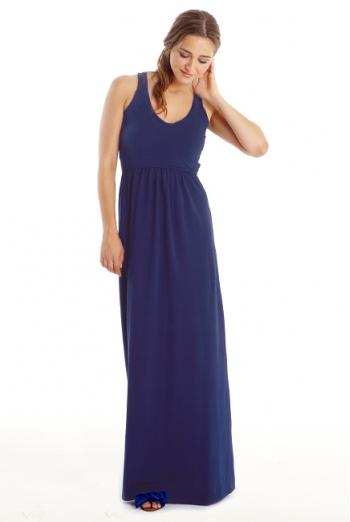 Платье для кормящих Must Have V-Neck Maxi, Indigo